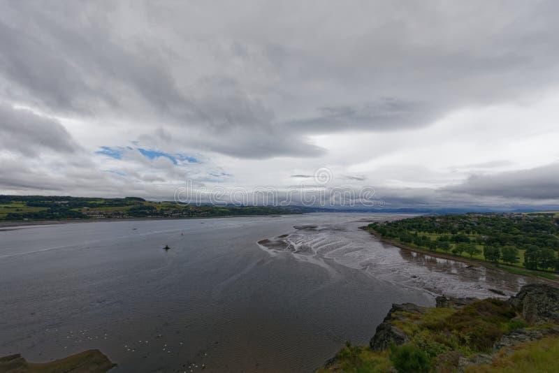 Rivier Clyde, Dumbarton, dichtbij Glasgow, Schotland stock afbeelding
