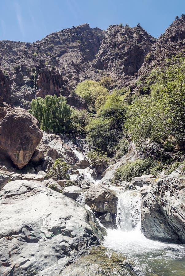 Rivier in de bergen van Marokko royalty-vrije stock foto