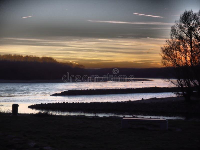 Rivier Donau en Morava, Bratislava Devin- Slowakije royalty-vrije stock foto