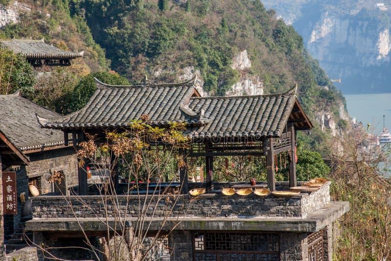 Rivier Drie Kloven Dengying Xia van Hubeiyiling Yangtze in de van de Klovenmensen ` van ` Drie van de Bedelaarswang workshop van  royalty-vrije stock afbeelding