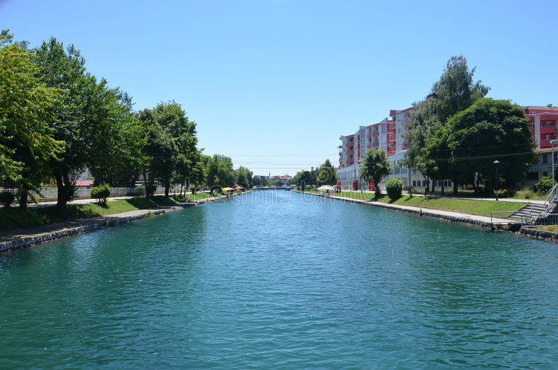 Rivier Drim, Stad van Struga, Macedonië royalty-vrije stock afbeelding