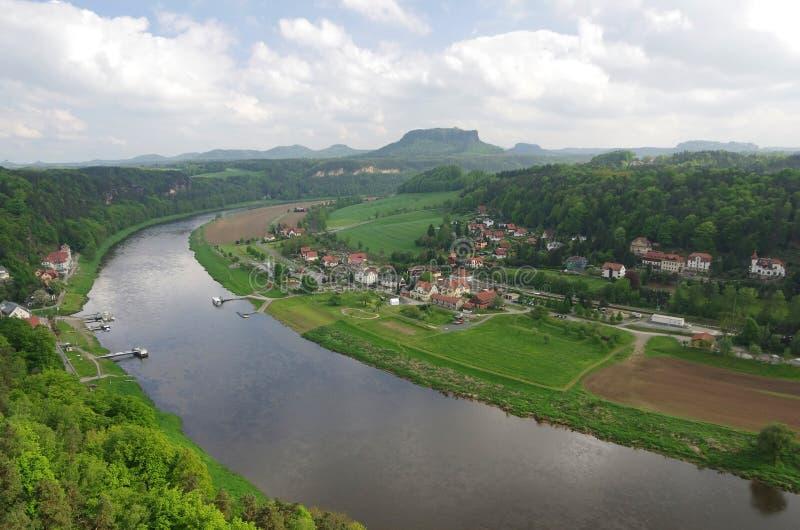 Rivier Elbe royalty-vrije stock foto