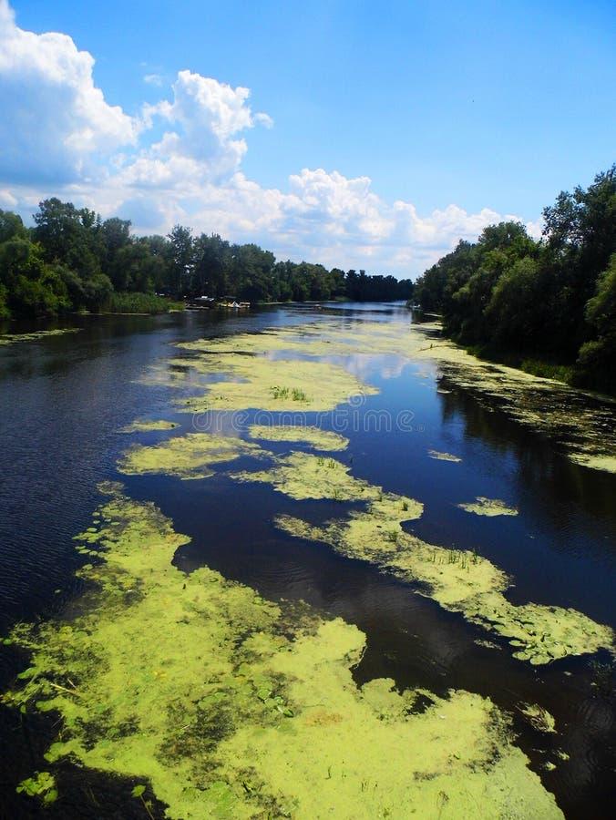 rivier en de blauwe hemel royalty-vrije stock foto