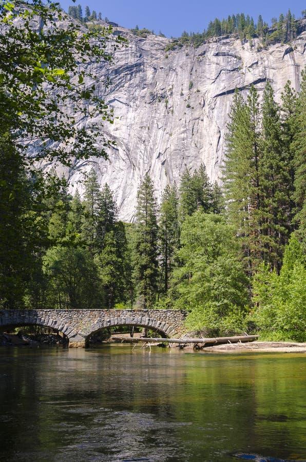 Rivier in het Nationale Park van Yosemite stock fotografie