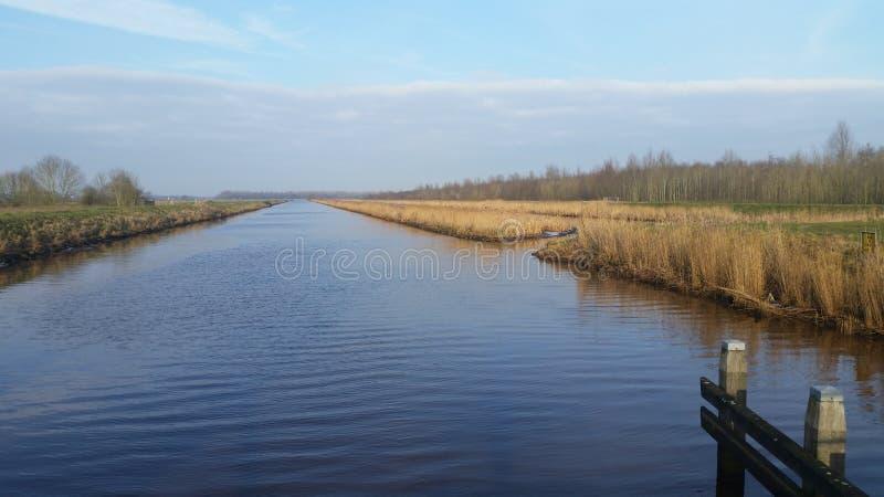 Rivier, kanaal, landschap, stock afbeelding