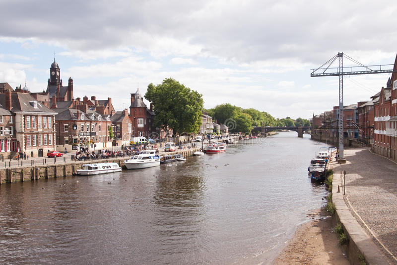 Rivier Ouse, York stock foto's