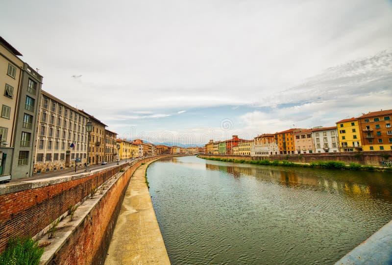Rivier in Pisa stock fotografie