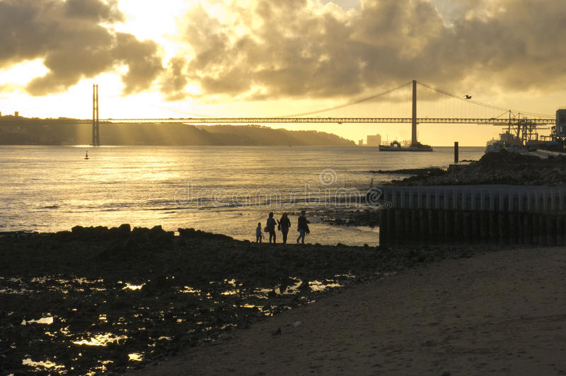 Rivier Tagus Lissabon Portugal royalty-vrije stock fotografie