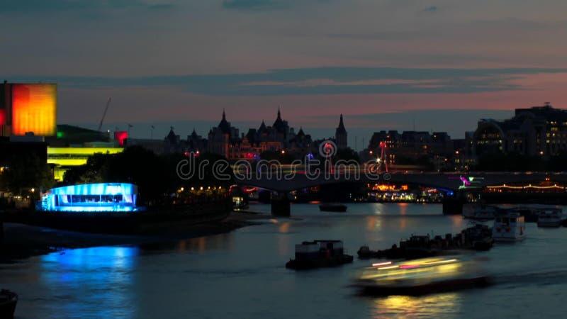 Rivier Theems in Londen stock videobeelden