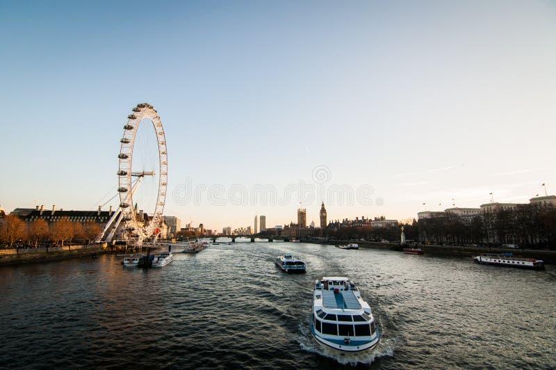 Rivier Theems, Londen royalty-vrije stock afbeeldingen