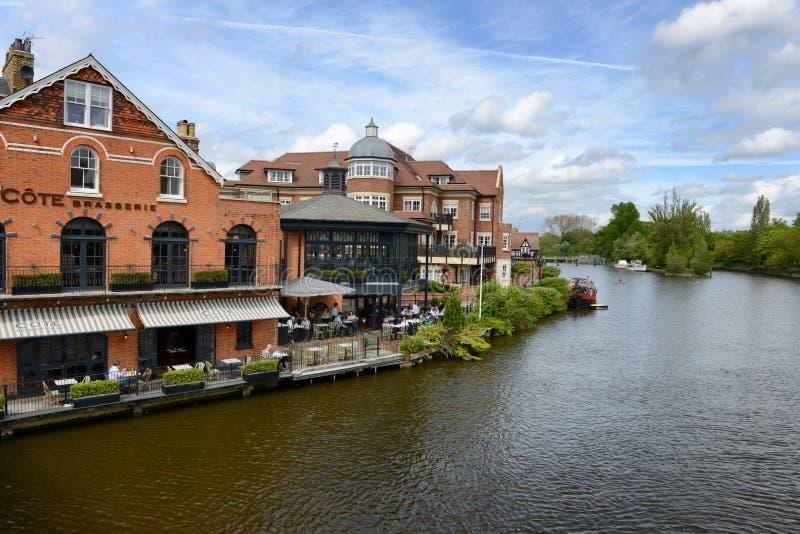Rivier Theems in Windsor, Berkshire, het UK stock foto's