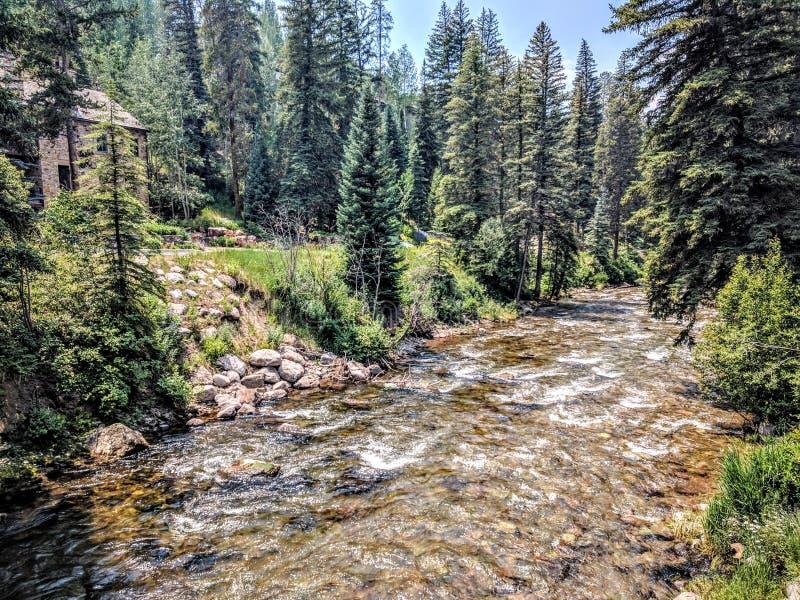 Rivier in Vail Colorado royalty-vrije stock afbeeldingen