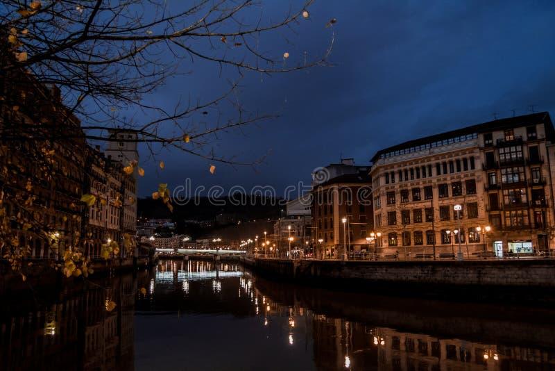 Rivier van Bilbao royalty-vrije stock afbeeldingen