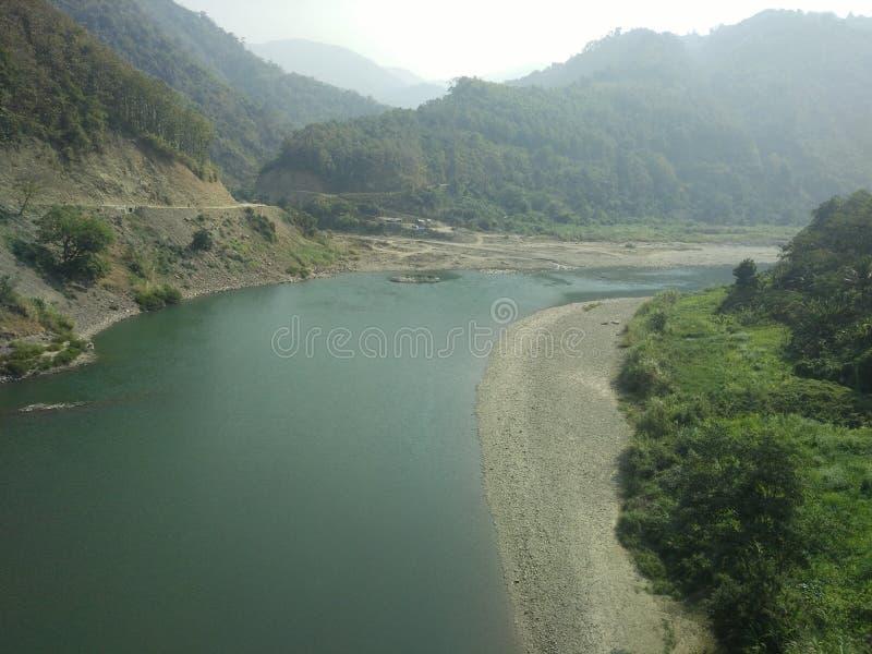 Rivier van Mizoram stock fotografie