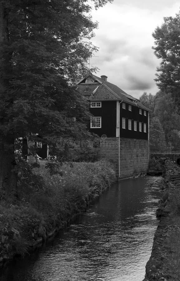 Rivier in Zweden stock fotografie