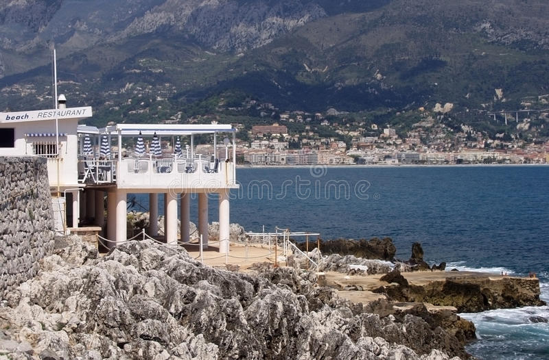Download Riviera stock photo. Image of menton, hill, beach, home - 22480156