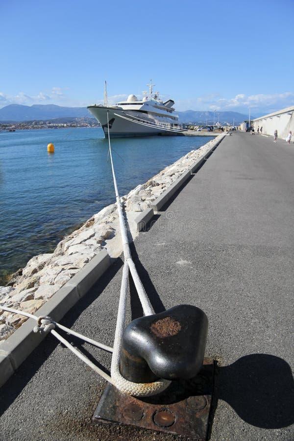 riviera antibes för fransk hamn superyacht arkivfoton