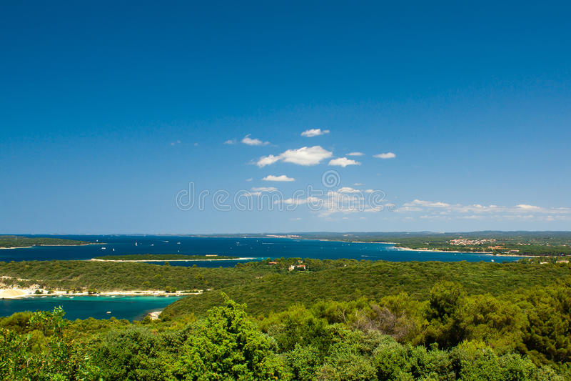 Riviera croata foto de archivo
