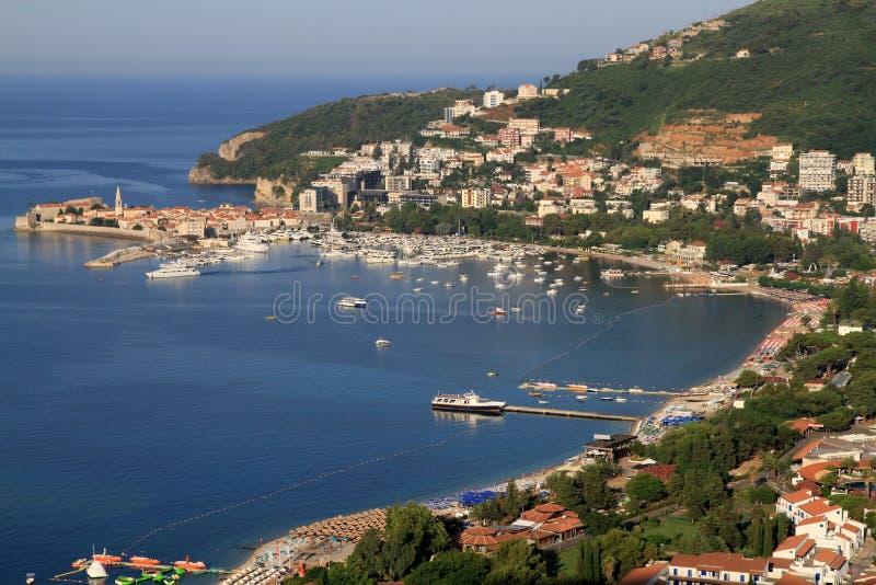 Riviera de Budva, Montenegro imagens de stock