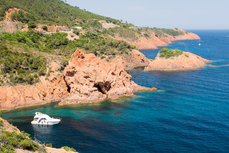 Riviera francês foto de stock