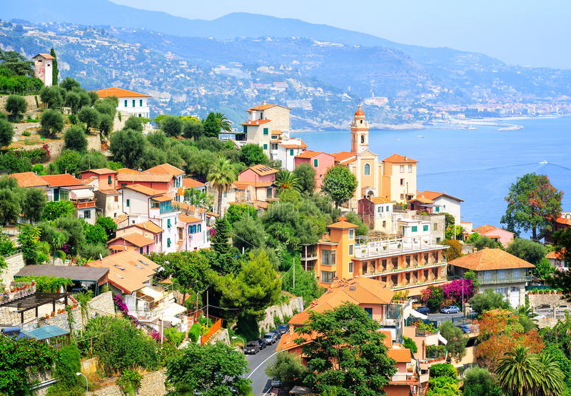 Riviera francês, França fotografia de stock royalty free