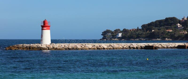 Riviera francesa, ` Azur, costa mediterránea de CÃ'te d, Eze, Saint Tropez, Cannes y Mónaco agradables Agua azul y yates de lujo imágenes de archivo libres de regalías