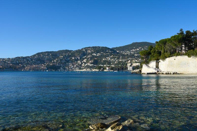Riviera francesa Opini?n sobre Villefranche-sur-Mer, Francia imágenes de archivo libres de regalías