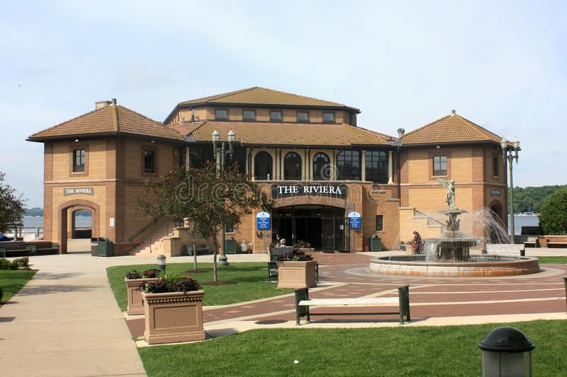 The Riviera in Lake Geneva, WI in Summer royalty free stock images
