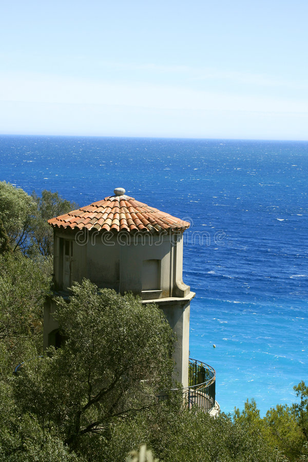 Riviera lookout stock photography