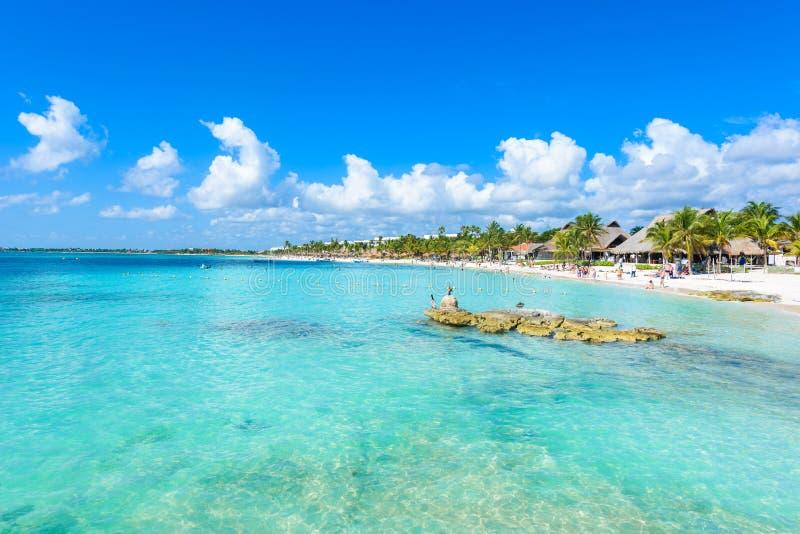 Riviera Maya - παραλία Akumal παραδείσου σε Cancun, Quintana Roo, Μεξικό - καραϊβική ακτή - τροπικός προορισμός για τις διακοπές στοκ εικόνες