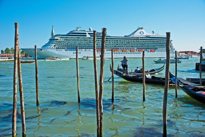 Riviera nella laguna di Venezia. immagine stock