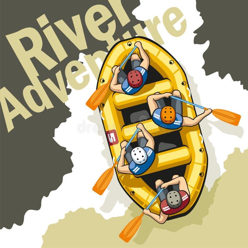 Rivieravontuur stock illustratie