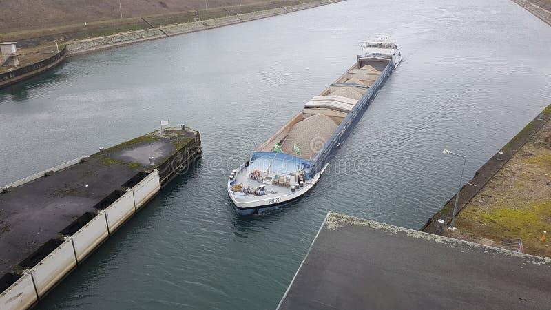 Rivierboot Frankrijk stock afbeeldingen