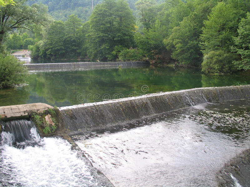 rivieren in bosnia royalty-vrije stock fotografie