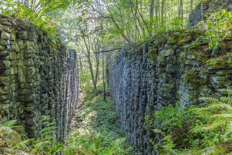 Rivierloch van Lehigh-Kloof royalty-vrije stock foto's