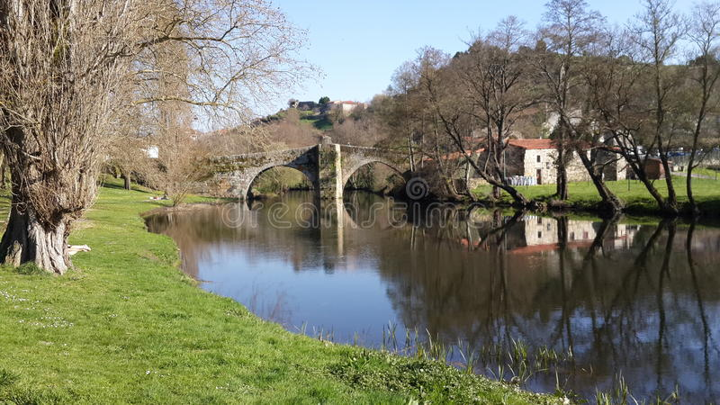Riviermening - Spanje stock afbeeldingen