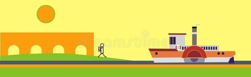 Rivieroever royalty-vrije illustratie