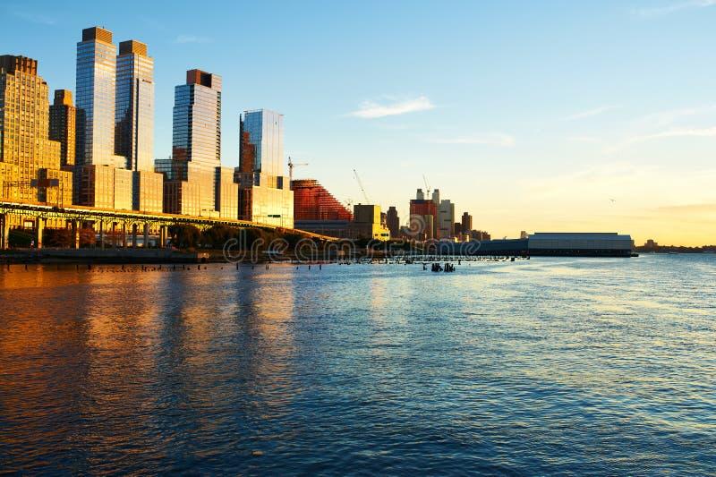 Rivieroeverbuurt in de Stad van New York stock foto