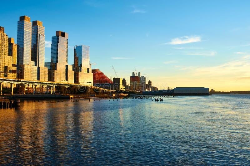 Rivieroeverbuurt in de Stad van New York stock fotografie