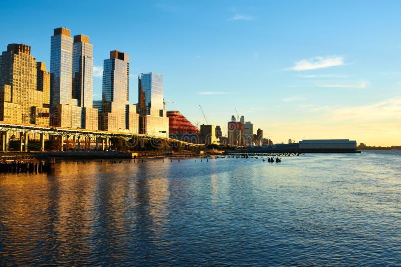 Rivieroeverbuurt in de Stad van New York royalty-vrije stock foto