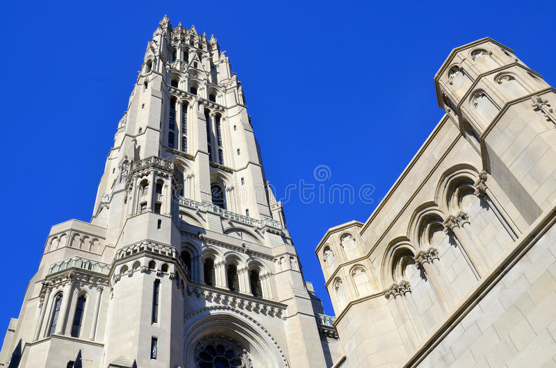 Rivieroeverkerk in de Stad New-York royalty-vrije stock foto's