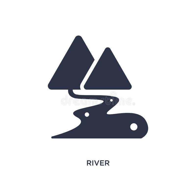 rivierpictogram op witte achtergrond Eenvoudige elementenillustratie van het concept van Afrika vector illustratie
