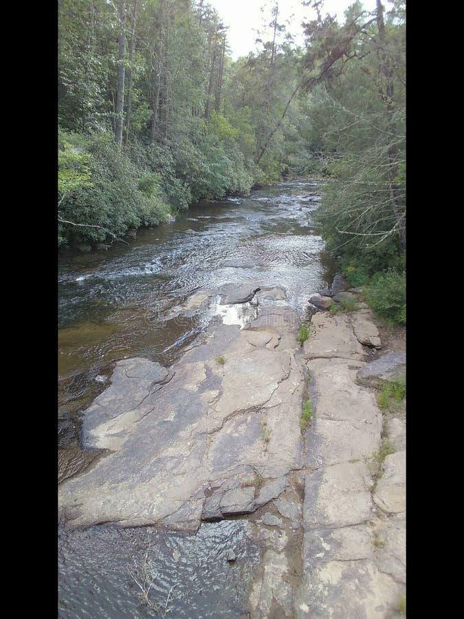 Rivierrotsen in Noord-Carolina royalty-vrije stock afbeelding