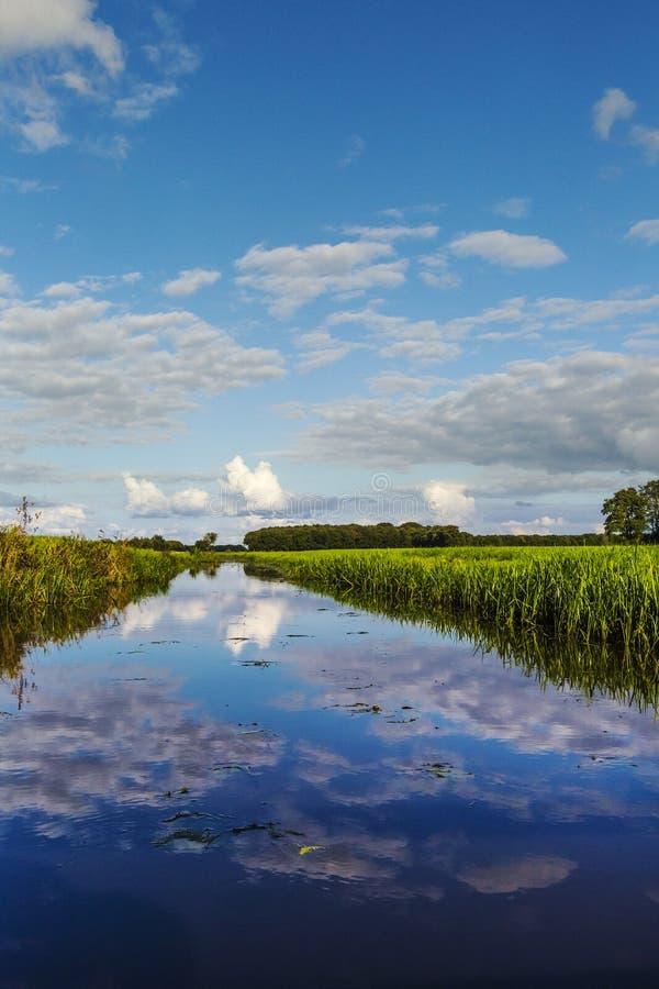 Riviertje de Linde, río el Linde fotografía de archivo libre de regalías