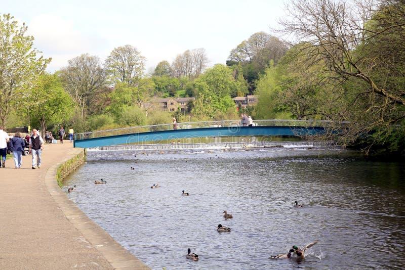 Riviery, Bakewell, Derbyshire. stock afbeeldingen
