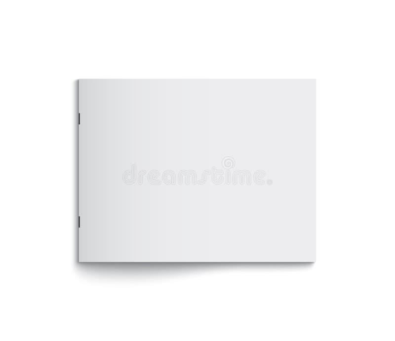 Rivista in bianco dell'opuscolo di formato della Noi-lettera del paesaggio illustrazione di stock