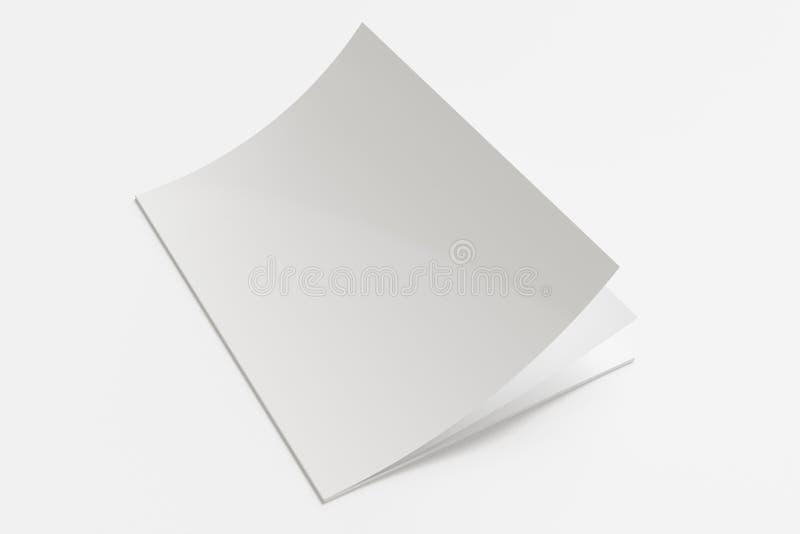 Rivista in bianco su bianco royalty illustrazione gratis