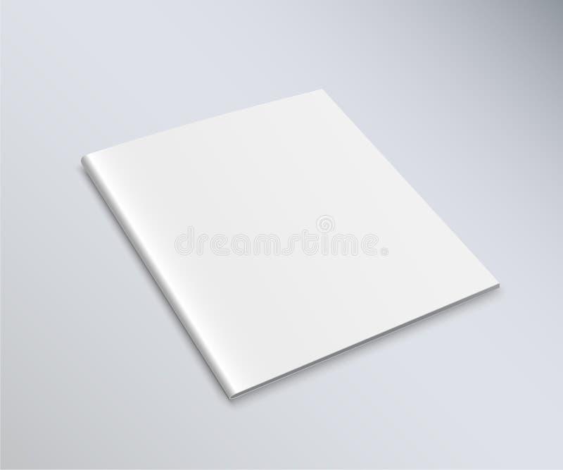 Rivista quadrata del modello con le ombre molli su buio illustrazione vettoriale