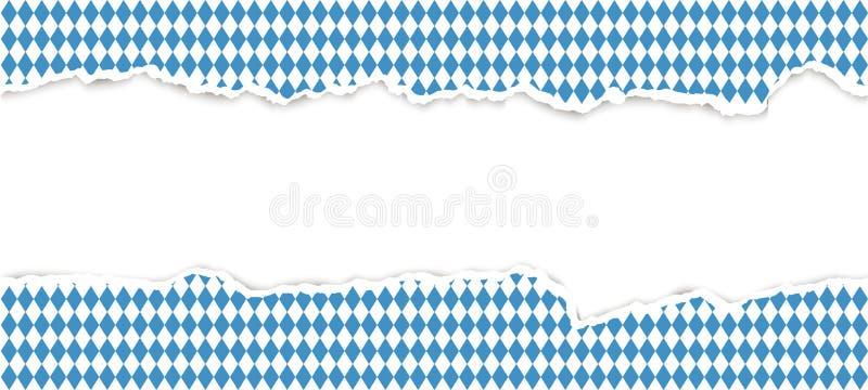 rivit sönder öppet papper Oktoberfest royaltyfri illustrationer