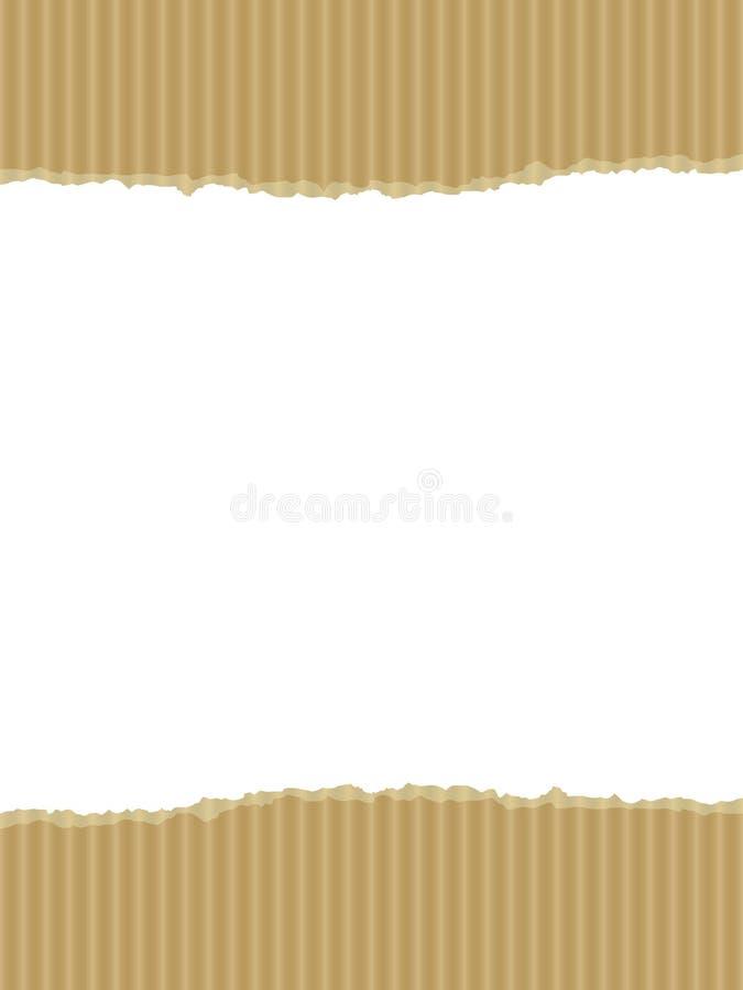 rivit sönder avstånd för pappkopia illustration vektor illustrationer